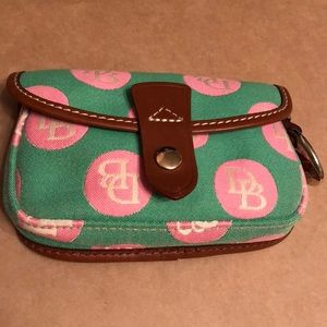 Dooney & Bourke mini bag, green with pink dots